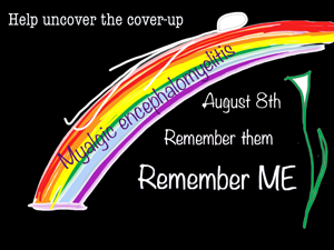 a poster saying Severe ME Day, Remember US, Remember Them