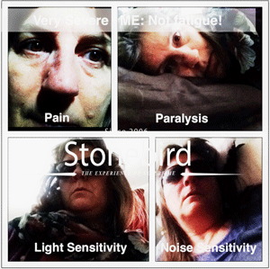 Severe ME is about Pain, Paralysis, Light Sensitivity, Noise Sensitivity