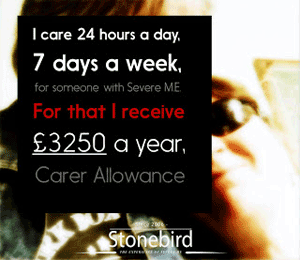 I care 24/7 for that I receive £3250 a pear carer Allowance.
